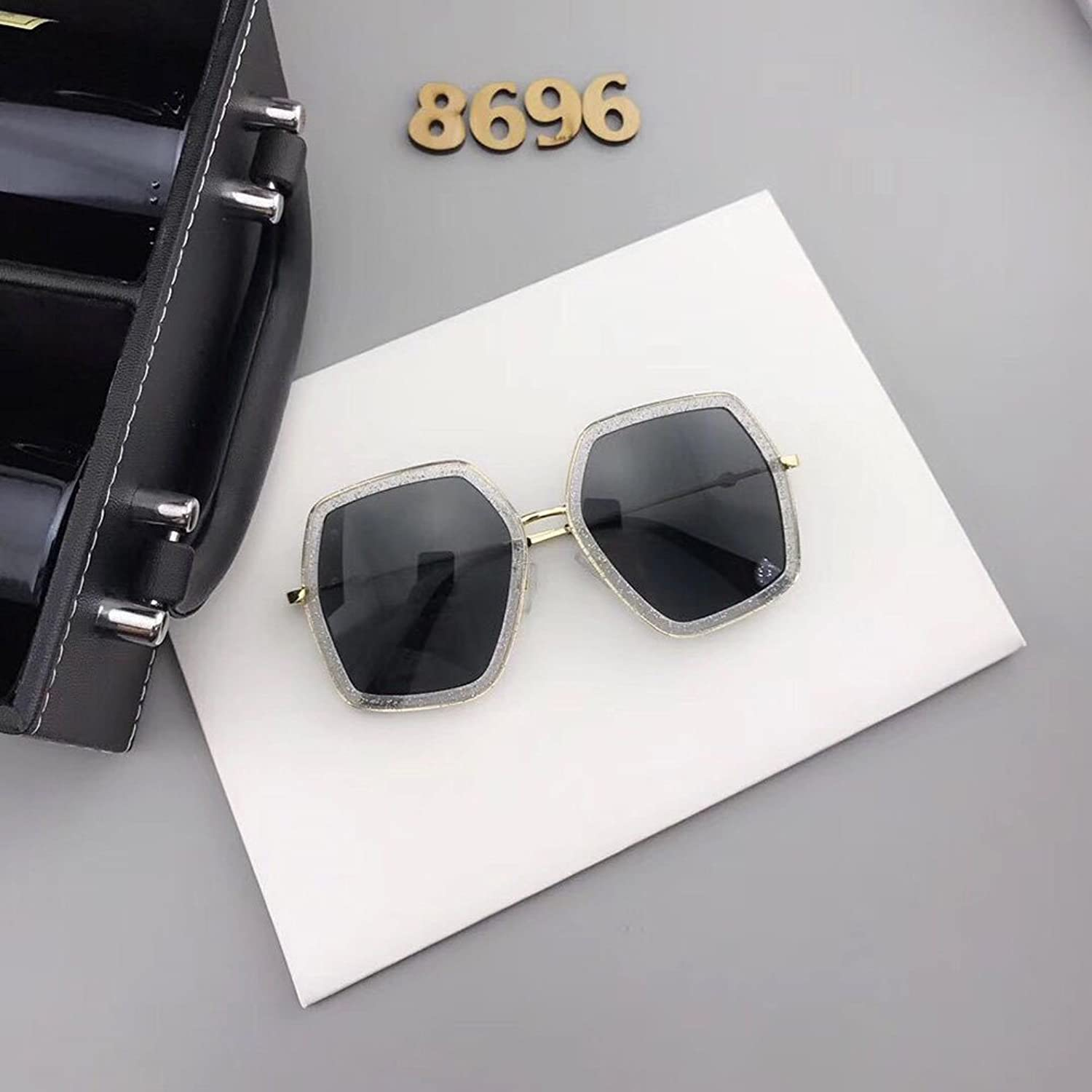 Premium Sunglasses Polygonal Sunglasses Crystal color Glasses Unisex Sixsided Trend Sunglasses  High Quality  With 100% UV Predection