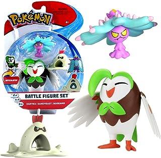 Selectie Battle figuren | Set van 3 | Pokemon | Action speelfiguren om te verzamelen, speelfiguur:Arboretoss. Sankabuh & G...