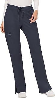 CHEROKEE Women's Mid Rise Moderate Flare Drawstring Pant Petite Mid Rise Moderate Flare Drawstring Pant Petite