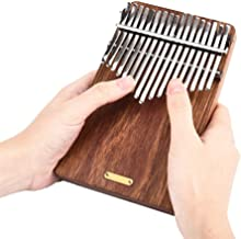 NIHAOA Piano de Pulgar portátil 17 Teclas de Piano Pulgar Kalimba lingting LT-K17P 17 Teclas de Piano Kalimba Mbira Pulgar (Escuchar el mar) (Color : -)