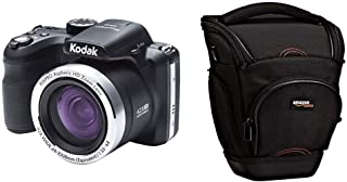 Kodak Astro Zoom AZ422 Cámara Digital 20MP 1/2.3 CCD 5152 x 3864 Pixeles Negro + AmazonBasics - Funda para cámara de Fotos réflex Color Negro