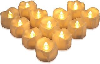 ORIA キャンドルライト LED ろうそく 揺らぐ炎 溶けたタイプ リアル感 タイマー機能付き 点滅仕様 火を使わない 安全 省エネ 便利 おしゃれ 誕生日 結婚式 クリスマス パーティー 室内飾り 癒しの灯り 12個セット