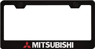 Mitsubishi Black License Plate Frame with Caps