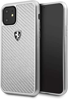 Ferrari Heritage Real Carbon Hard Case for Apple iPhone 11 - Silver