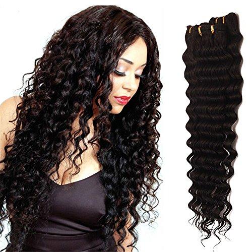 BeautyWig 8A Brésilien Humain Cheveux Extensions Profond Vague 100% Non traité vierge Profond Bouclé Cheveux Tisser Trame Naturel Couleur 1 Paquet 50g(10-28inch), 26\
