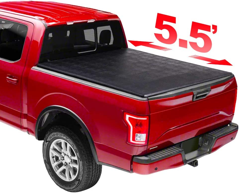 NYI 5.5' Soft Trifold Tonneau Cover waterproo for 0693 Houston Mall Truck Tampa Mall Bed