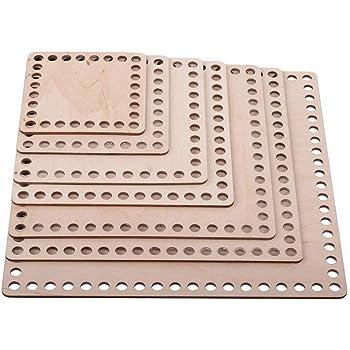 3x en bois fond bases pour Crochet Panier Circulaire 20 Cm