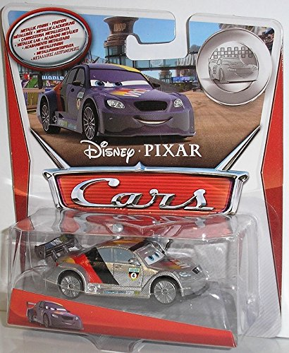 Disney Pixar Cars 2 - KMart Silver Racer Series - Max Schnell with Metallic Finish