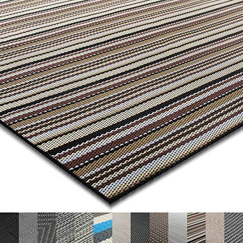 casa pura® Indoor- und Outdoor-Bodenbelag Asti | kunstvoll gewebter Terrassenteppich | als Outdoor Teppich Meterware oder Läufer für innen | 40 Größen (180x300cm)