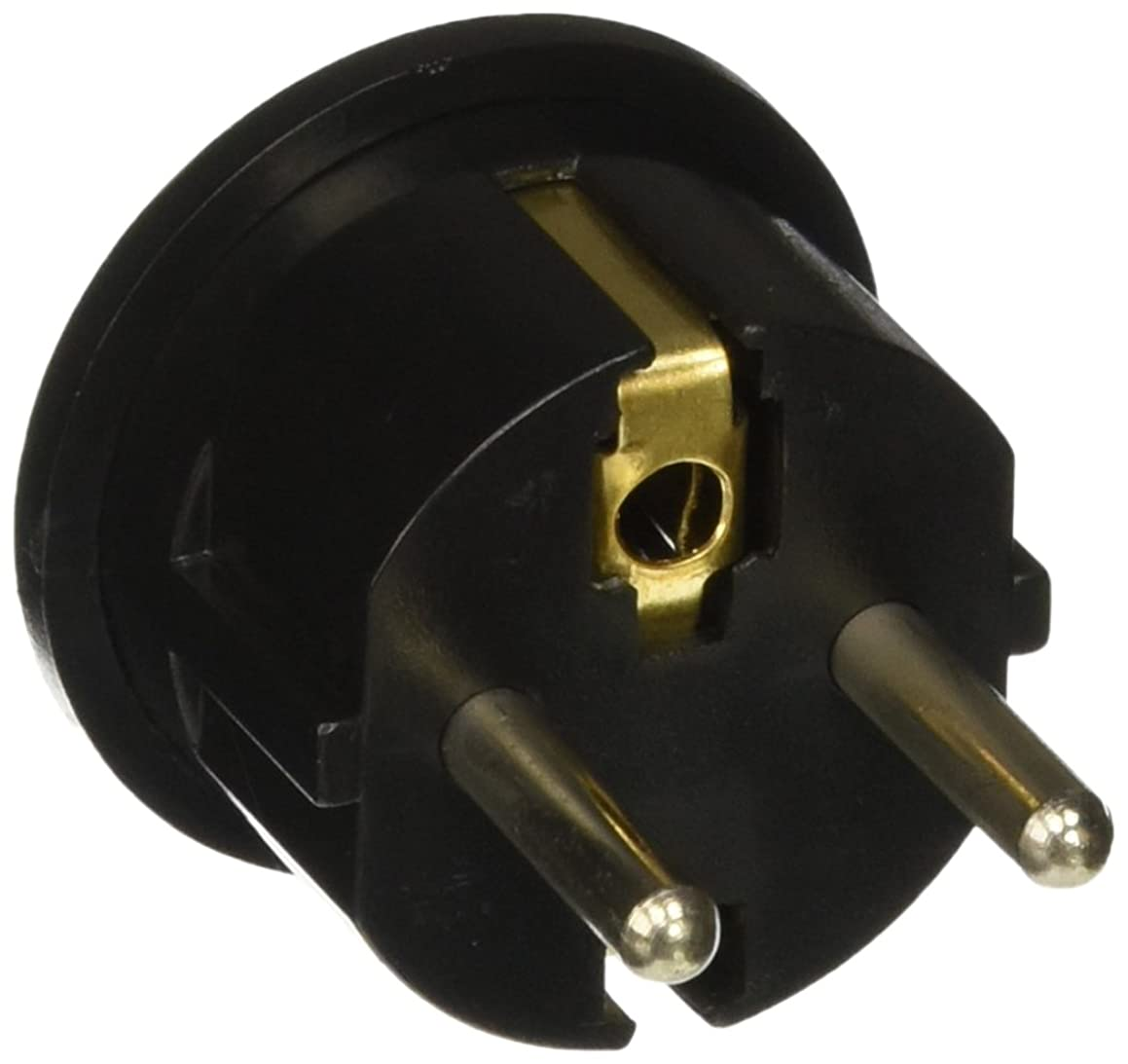 CKITZE BA-4 Grounded European German Schuko Power Plug Adapter Adaptor - American USA to German, France, Russia & more - Excellent Quality?, Black or White