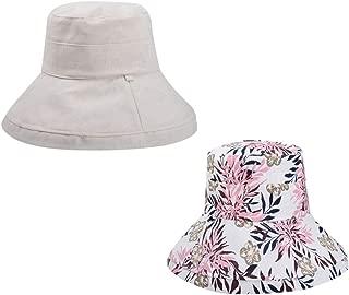 Women Casual Bucket Hat Wide Brim Floppy Foldable Double Side Fisherman Boonie Cap Beach Sun Hats