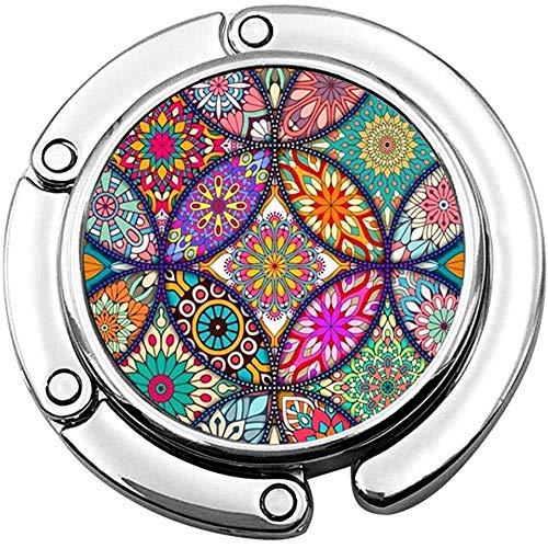 Handtas Haak Mandala Patroon Print Charm Handtas Tafel Bureau Tas Haken - Haak Houder