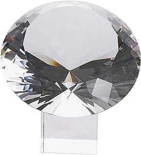 LONGWIN 200mm(8 inch) Big Crystal Diamond Paperweight Wedding Centerpiece