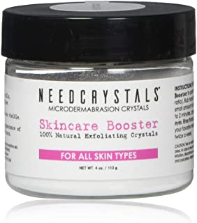 Best NeedCrystals Microdermabrasion Crystals 4 oz. / 113 gr. DIY Face Scrub. Natural Facial Exfoliator for Dull or Dry Skin Improves Acne Scars, Blackheads, Pore Size, Wrinkles, Blemishes & Skin Texture Review