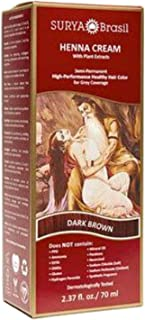Surya Henna Dark Brown Cream 2.31 Oz. (4 Pack)
