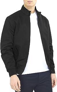 Brave Soul Mens Reactive Long Sleeve Harrington Full Zip Bomber Jacket Coat