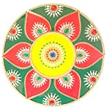 Ethnic Avenue 13 Piece Geometric Mandala Rangoli Diwali Home Decor Accents - Handmade Floor/Table Decoration