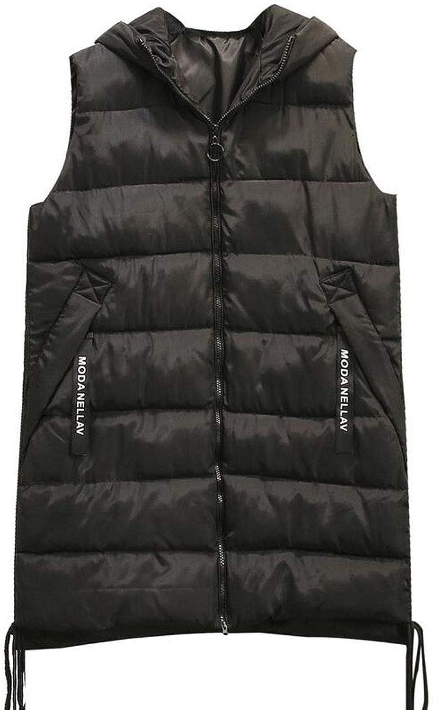 CHENGXINGF Large Größe Damenbekleidung, leichte gepolsterte rmellose Jacke, Winter Krper warme Weste Mantel, Fett MM mit Kapuze Baumwolle Weste