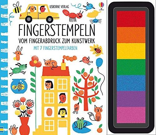 Fingerstempeln:  Vom Fingerabdruck zum Kunstwerk: mit 7 Fingerstempelfarben