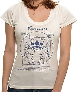 Camiseta Stitch Vitruviano - Feminina