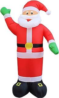 MaquiGra Papá Noel Hinchable electrico Muñeco Inflable navideño Decoración Inflable de Navidad con luz LED Adornos de Navidad para jardín Puerta cesped Garaje