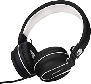 Rockpapa 952 Stereo Foldable Headphones On Ear with Microphone, Adjustable Headband for MP3/4 CD DVD in Car/Airplane Table...