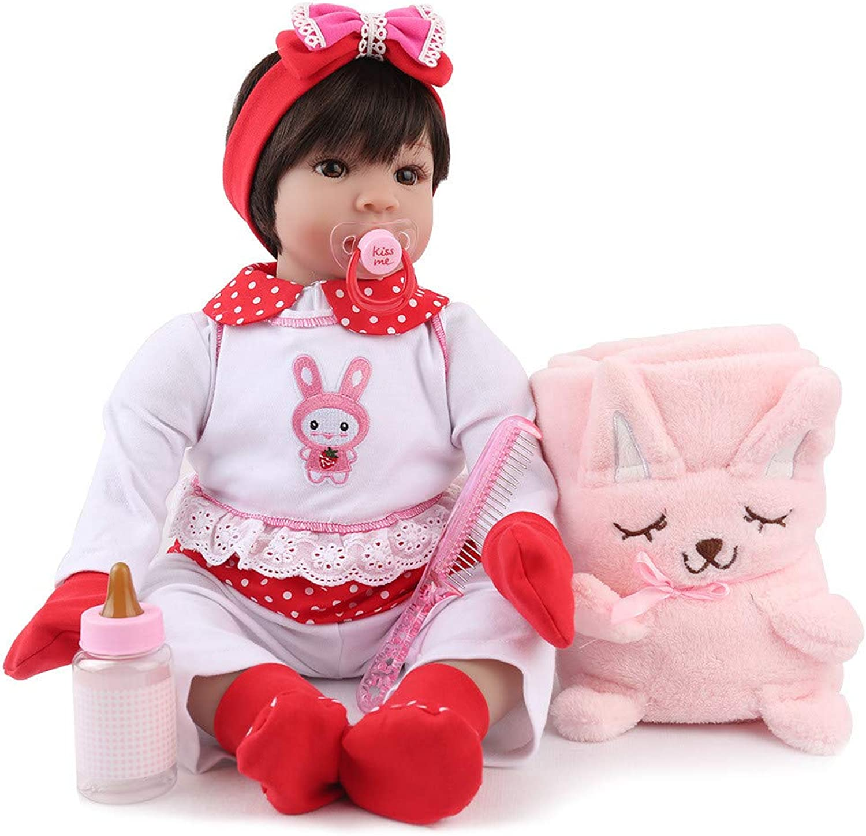 Sunnymi 55cm Realistische Reborn Puppe Doll Babypuppen Lebensechte Soft Vinyl Silikon Xmas Present (A, 55cm)