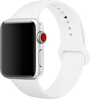 Sport Band for Apple Watch 38mm, Aimote Soft Silicone Replacement Strap for iWatch Nike+ Series 1 Series 2 ,(Small/Medium Size),38mm White