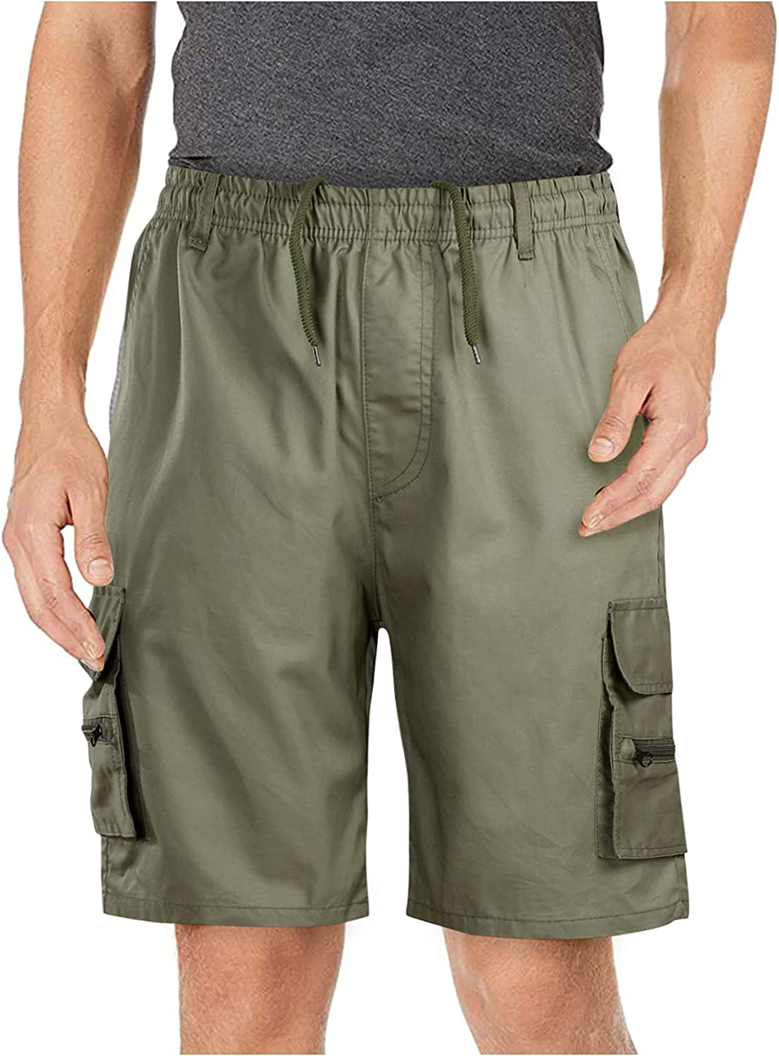 Men's Advanced Cargo Shorts Easily fit Multi-Pocket Outdoor Solid Color Cargo Shorts Cotton