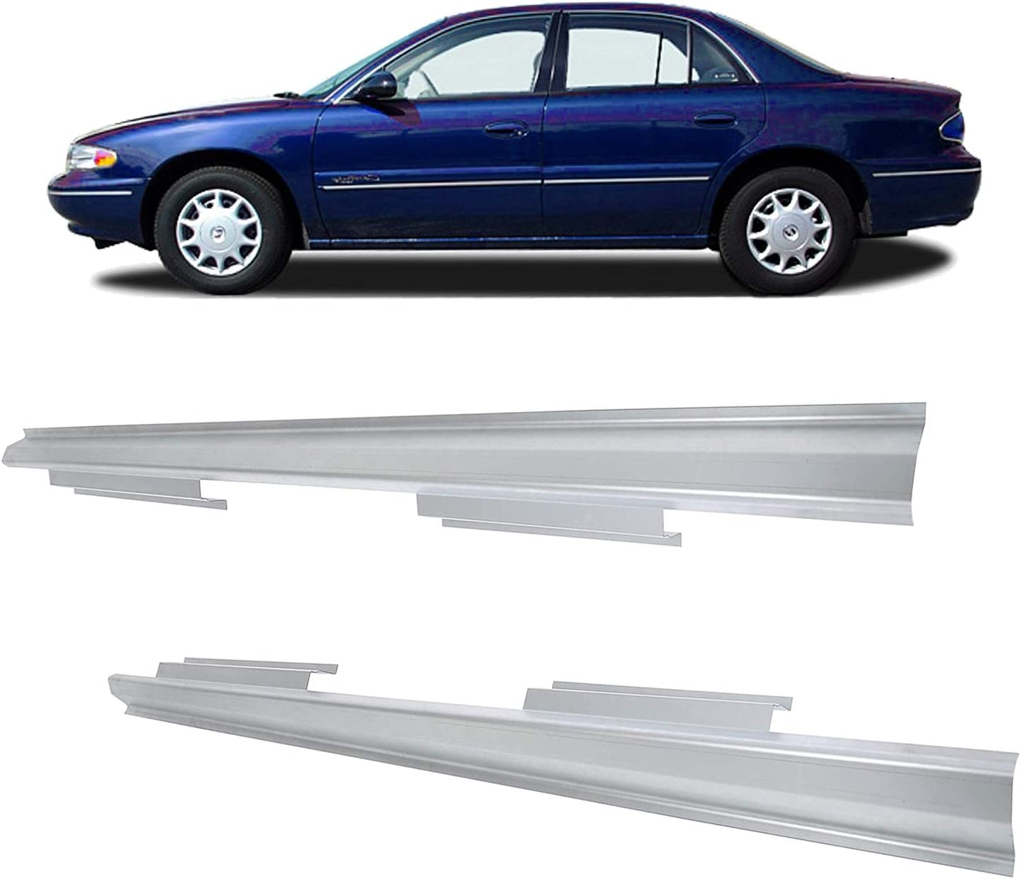ECOTRIC Pair Outer Rocker Panels and 1997-2005 Max 67% OFF Luxury goods For Century Buick
