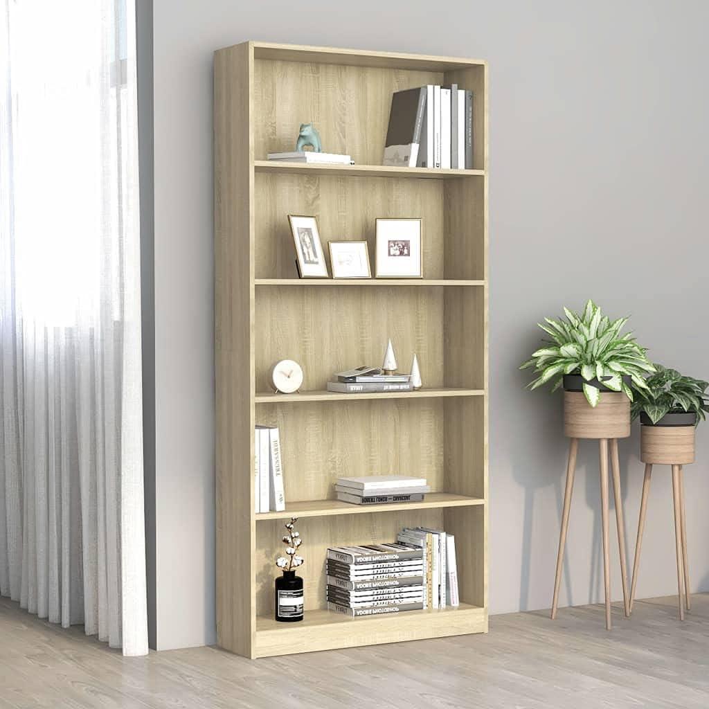 Jinxuny 5-Tier El Paso Mall Book Cabinet Chipboar 31.5