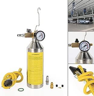 TBvechi Clean Tool AC Flush Kit Canister Gun Clean Tool Set R134a R12 R22 R410a R404a, Pressure 0-174psi, 0-12bar(Yellow)