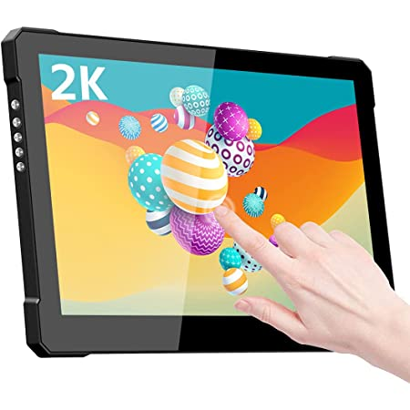 モバイルモニター タッチパネル 10.1 インチ モバイルディスプレイ Eleduino 2560*1600 WQHD ポータブルモニター IPS光沢液晶パネル 薄い 軽量 HDR USB Tpye-C/標準HDMI/ノートパソコン/デスクトップ/スマホ/ゲーム機に対応