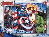 Clementoni- Marvel Clementoni-08518-Supercolor Collection-The Avengers-30 Piezas, 08518, Multicolor