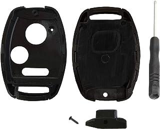 KeylessOption Keyless Entry Remote Key Blade Fob Shell Case Cover Repair for HondaCivic CR-V CR-Z Fit Odyssey + Screwdrive...