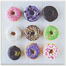 The Stupell Home Décor Collection Colorful Donut Grid Wood Plaque Wall Art, 12 x 12 Inches