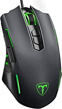PICTEK Gaming Mouse Wired [7200 DPI] [Programmable] [Breathing Light] Ergonomic USB Computer Mice RGB Laptop PC Gaming Mouse, 7 Buttons for Windows 7/8/10/XP Vista Linux, Grey