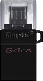 Kingston DataTraveler microDuo3 G2 - DTDUO3G2/64 GB microUSB and USB Type-A Flash Drive for Android OTG, Black
