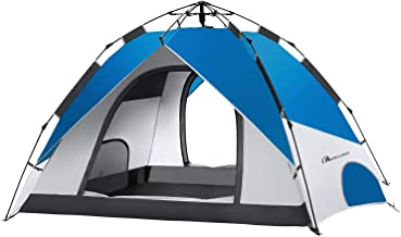 MOON LENCE Pop Up Tent Family Camping Tent 4 Person Tent...
