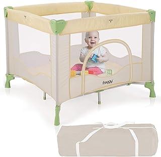 Froggy Reisebett Laufstall Spielstall Kinderreisebett Kombi-Reisebett inkl. faltbare Unterlage Transporttasche zusammenklappbar Safari