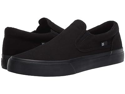 DC Trase Slip-On TX (Black/Black/Gum) Skate Shoes