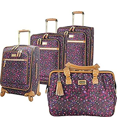 Steve Madden Luggage Honey 4 Piece Spinner Collection (Purple)