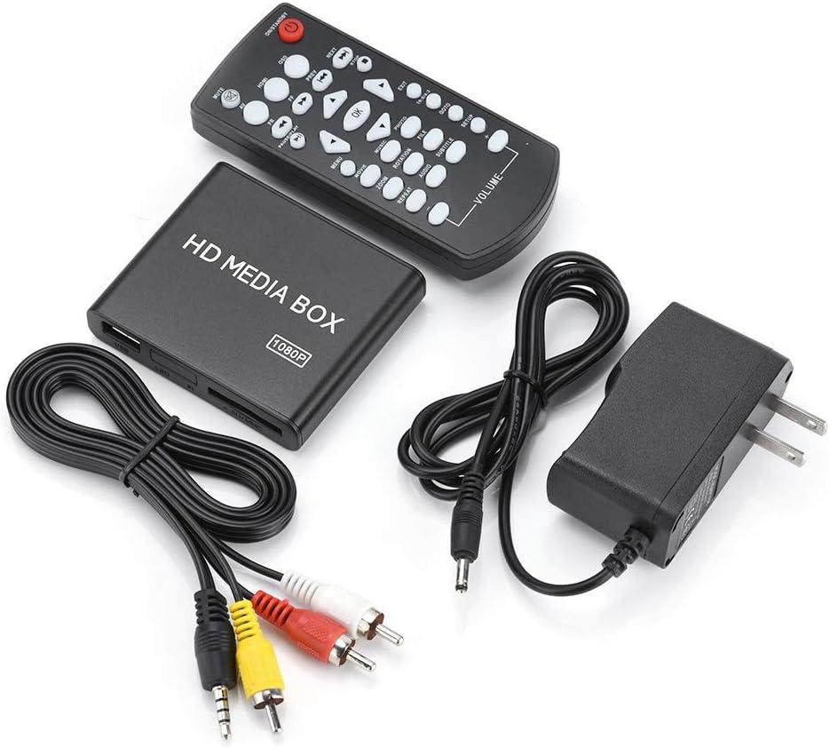 Taidda Full Hd Mini Box Media Player, 110-240V Full Hd Mini Box Media Player 1080P Media Player Box Support USB Rmvb Mp3 Avi Mkv2#
