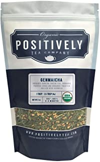 Positively Tea Company, Organic Genmaicha, Green Tea, Loose Leaf, USDA Organic, 1 Pound Bag