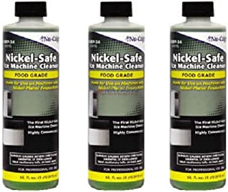 3 Bottles of 16oz Nickle Safe Ice Machine Cleaner. Safe for Manitowoc Ice Machines