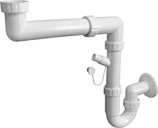 Siphonly® - Sifón de ahorro de espacio, desagüe para fregadero, cierre de olores para cocina de 6/4