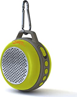 iFox IFS303 Ultra Portable Wireless Bluetooth Speaker with Clip for iPhone iPad iPod Android or PC with FM Radio, AUX, SD and Speakerphone, Outdoor and Indoor (Yellow)