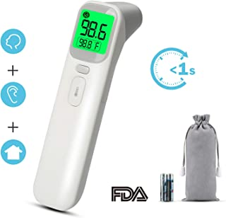 Baby Thermometer, KeShi Digital Thermometer for Fever - Ultra-Fast Accurate Forehead and Ear Reading - Latest Upgraded Infrared Technology - 4 Modes for Baby and Adults