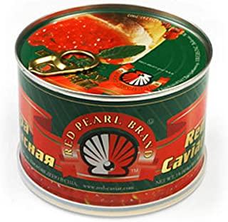 Red Salmon Caviar – Alaskan Salmon Roe – Lightly Salted Caviar in Can 1 Lbs or 454 g by Red Pearl