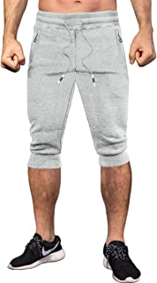 MAKEIIT Mens Sweatpants Athletic Shorts Sweat Pants Running Shorts Workout Gym Shorts for Men